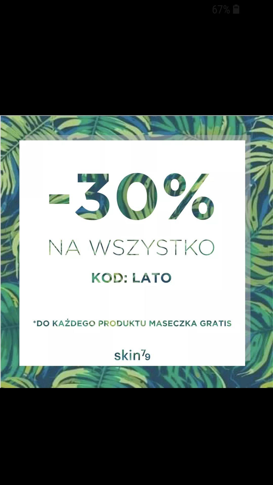 Kod -30% Tylko do 15:00 I maseczka gratis do każdego produktu (do 07.07) na skin79