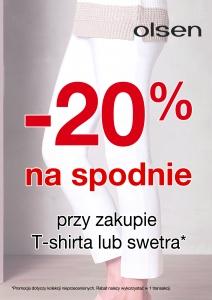 -20% na spodnie przy zakupie t-shirta lub swetra @ Olsen