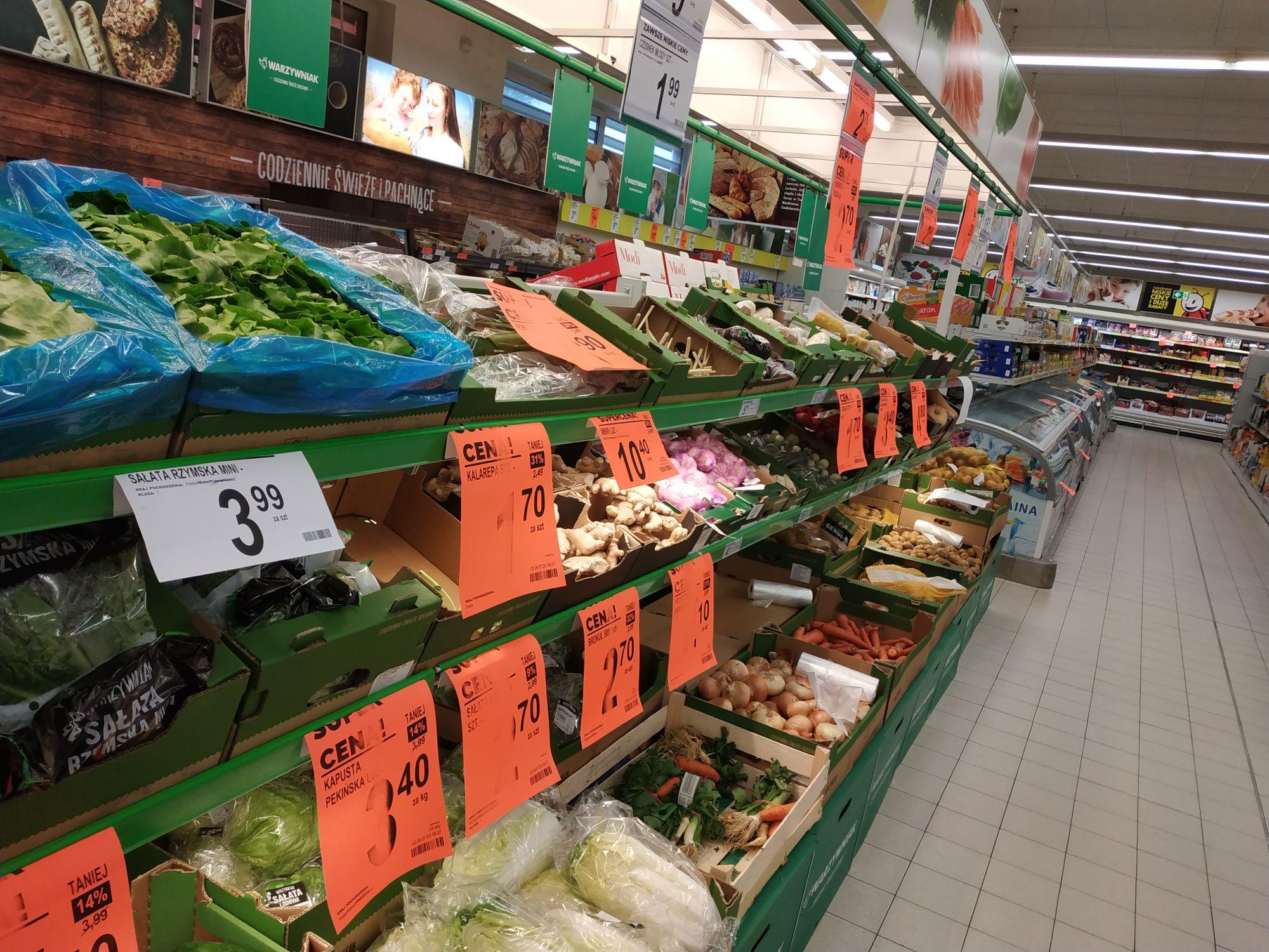 -30% na warzywa owoce mięso mrożonki i nabiał @ Biedronka przy ul. Stróżyńskiego w Poznaniu