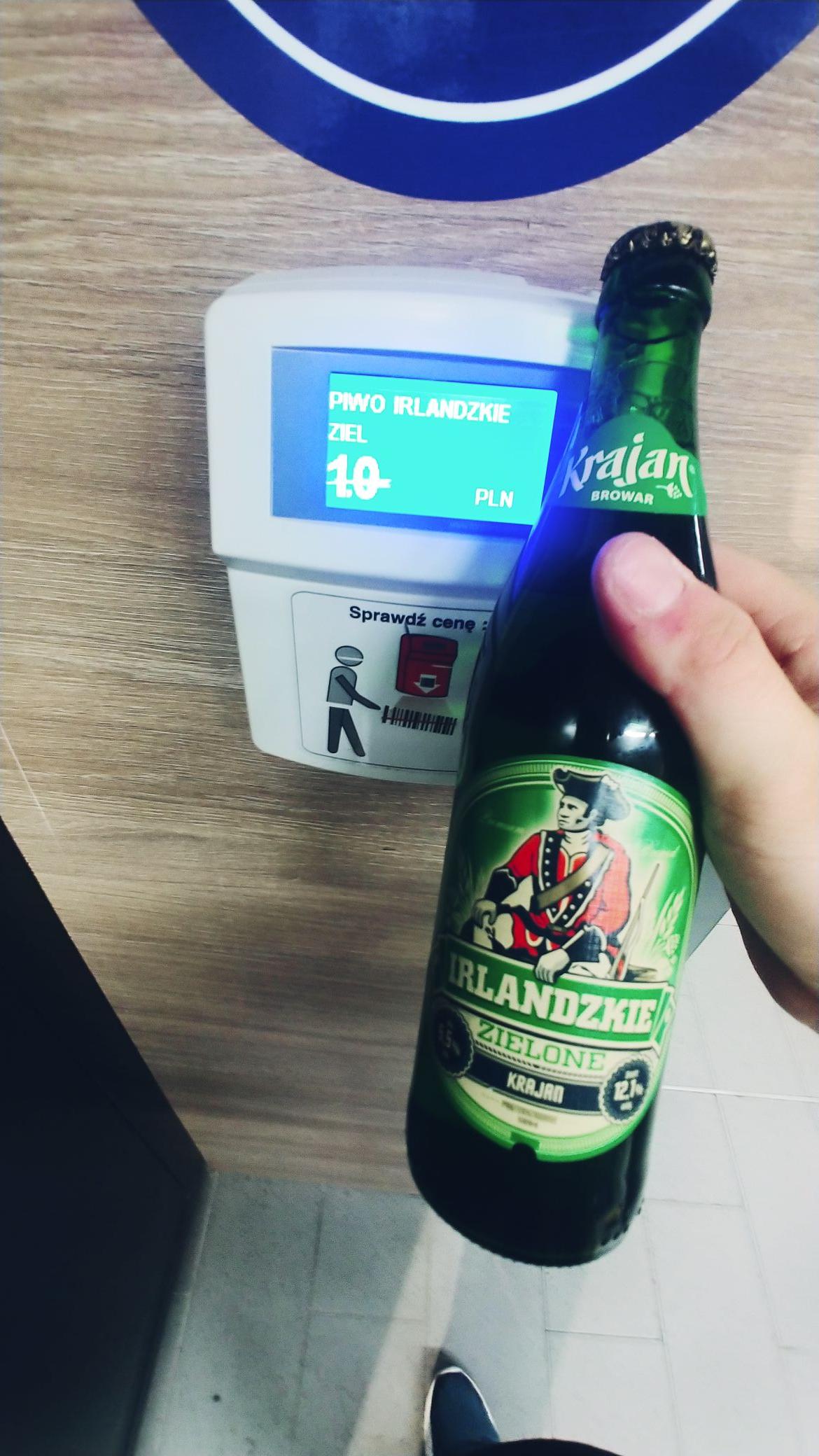 Piwo Browar Krajan Irlandzkie Zielone 5.5% Aldi