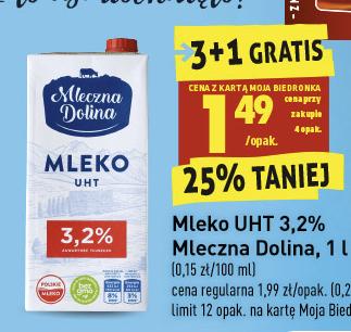 Mleko UHT 3,2% Biedronka