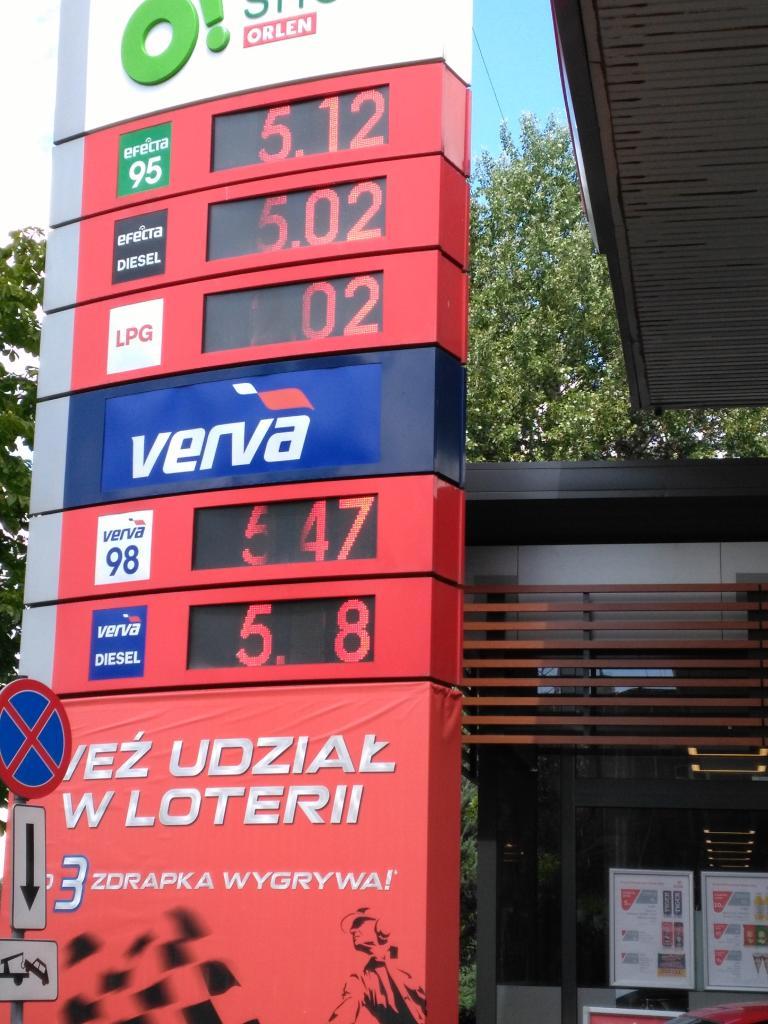 Tanie tankowanie LPG 2,02 zł Orlen Warszawa