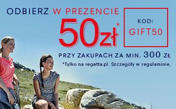 Rabat 50 zł (MWZ 300 zł) na wszystkie produkty @ Regatta