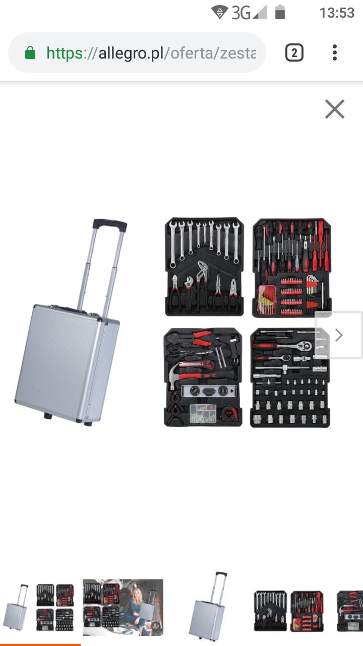 Mega zestaw narzędzi z wygodną walizką