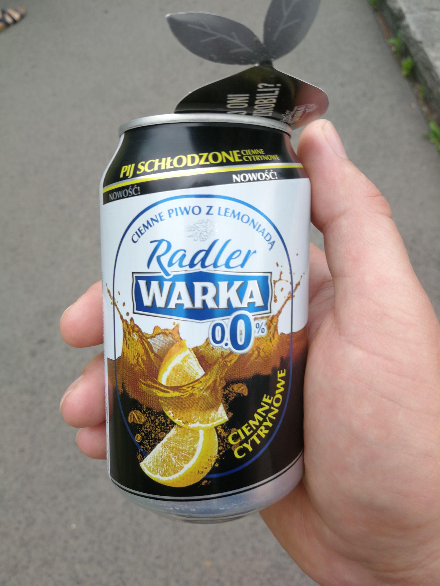 Darmowa Warka Radler 0.0% 330ml ciemne cytrynowe w Park Śląski Chorzów