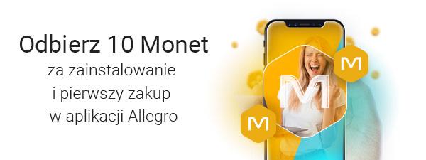 5 + 5 monet za pierwszy od 12 miesięcy zakup w aplikacji Allegro