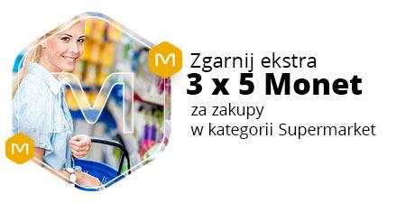 3 x 5 Monet za zakupy od 70 zł w Supermarkecie @ Allegro