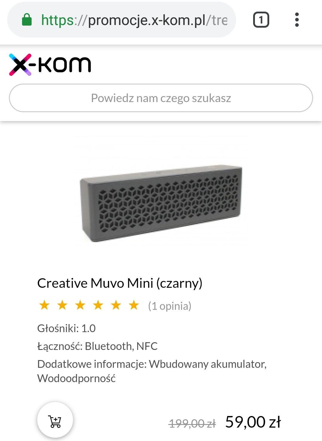 Głośnik bluetooth Creative Muvo Mini (czarny)