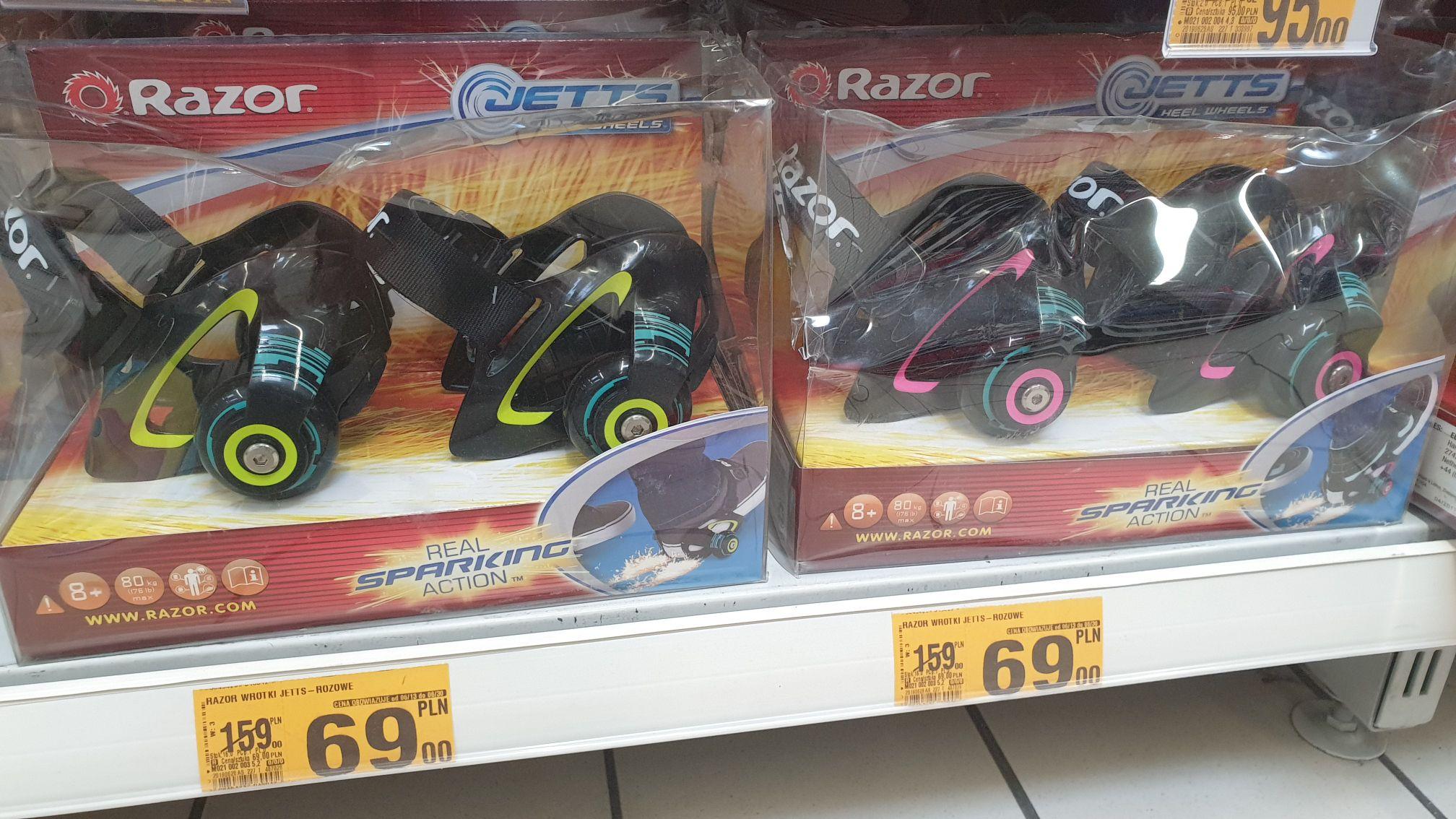 Wrotki Razor JETTS - Auchan Katowice 3 stawy