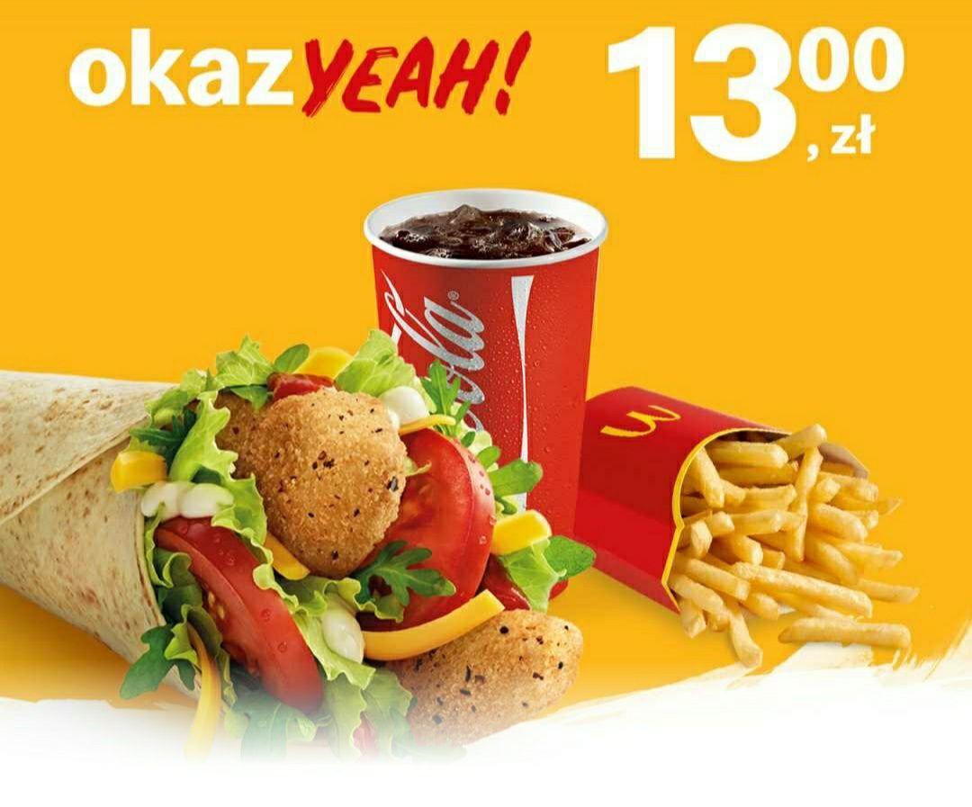 McZestaw z McWrap do wyboru McDonald's