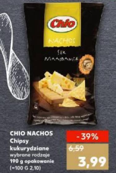 Nachosy Chio 39% taniej, Kaufland