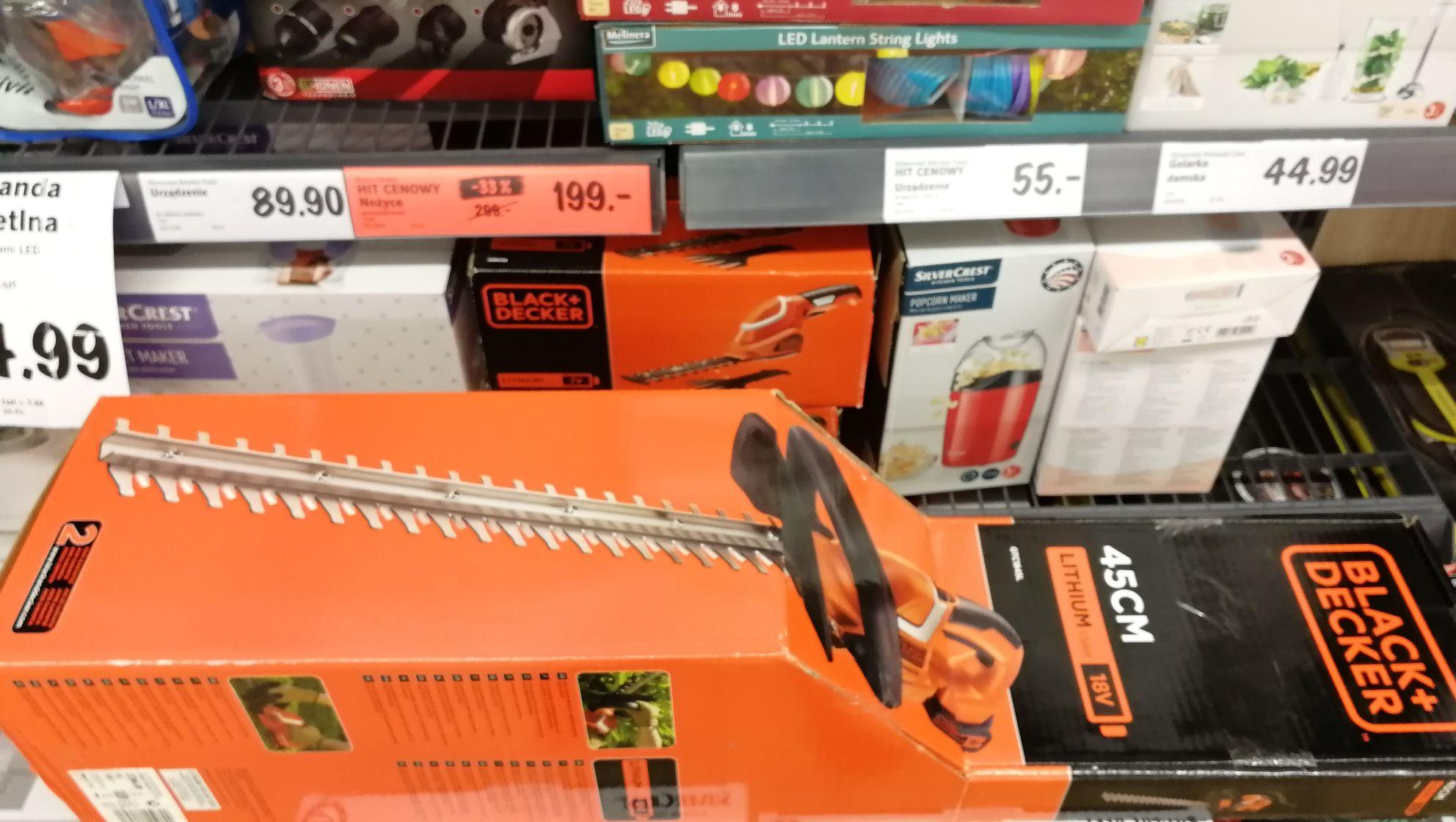 Nożyce ogrodnicze akumulatorowe Lidl