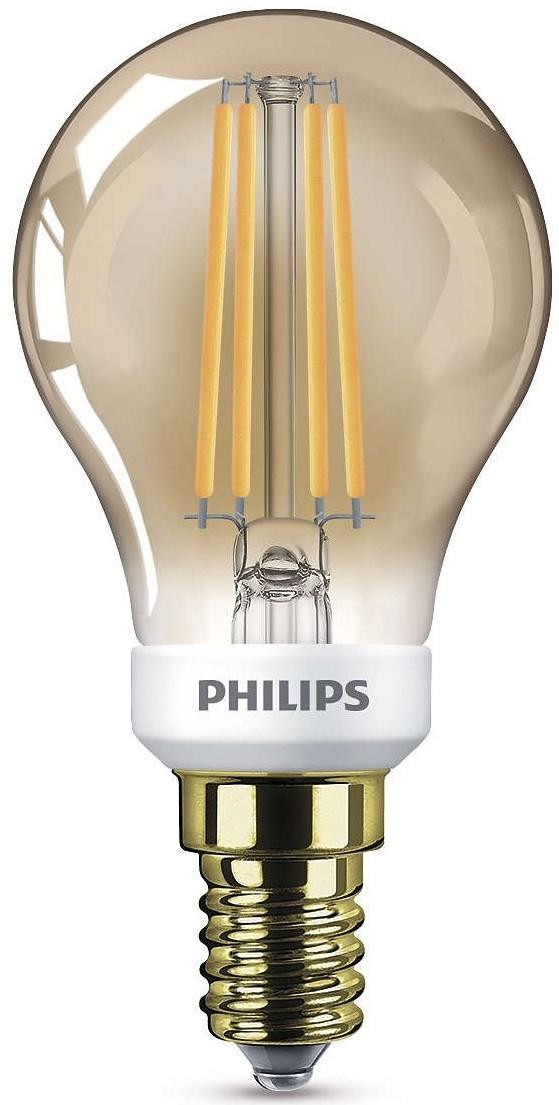 [Tarn. Góry, Carrefour] VINTAGE Żarówka PHILIPS E14 5W=35W gold kulka ściemnialna
