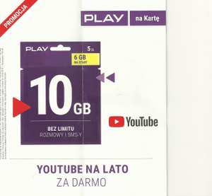 100GB gratis w Play na YouTube