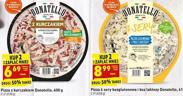 Pizza Donatello z kurczakiem 400g cena przy zakupie 2 sztuk