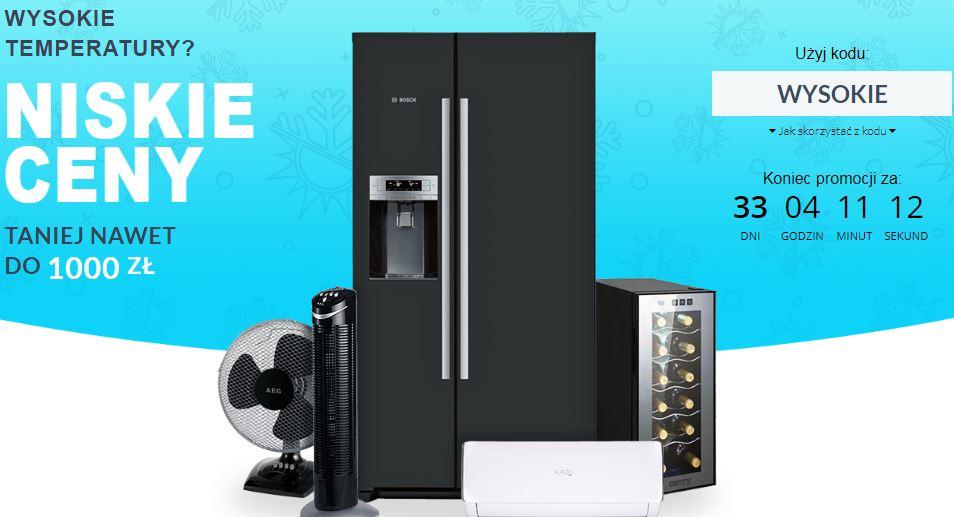 Wybrane AGD (lodówki, pralki, suszarki, i inne np. Wentylator z nawilżaczem AEG VL 5569 LB za 339 zł) w najniższej cenie