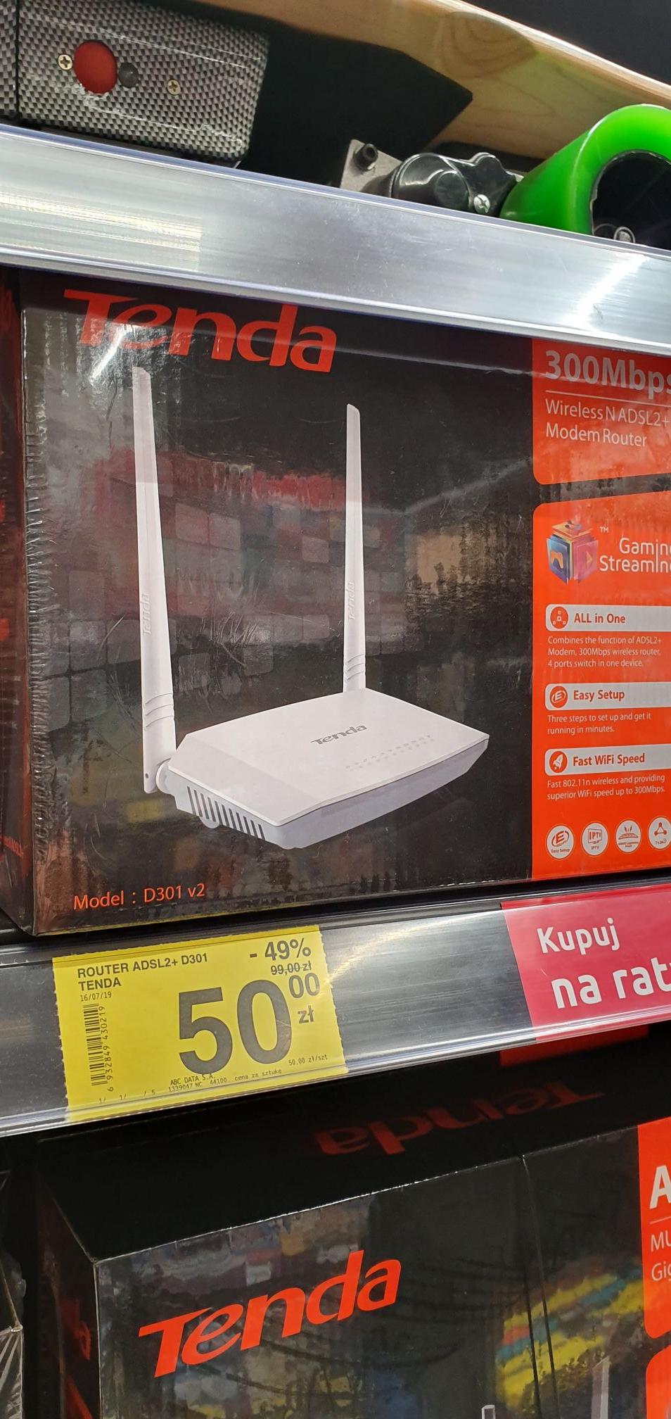 Bezprzewodowy router i modem ADSL2+ N300 @ Carrefour Jastrzębie