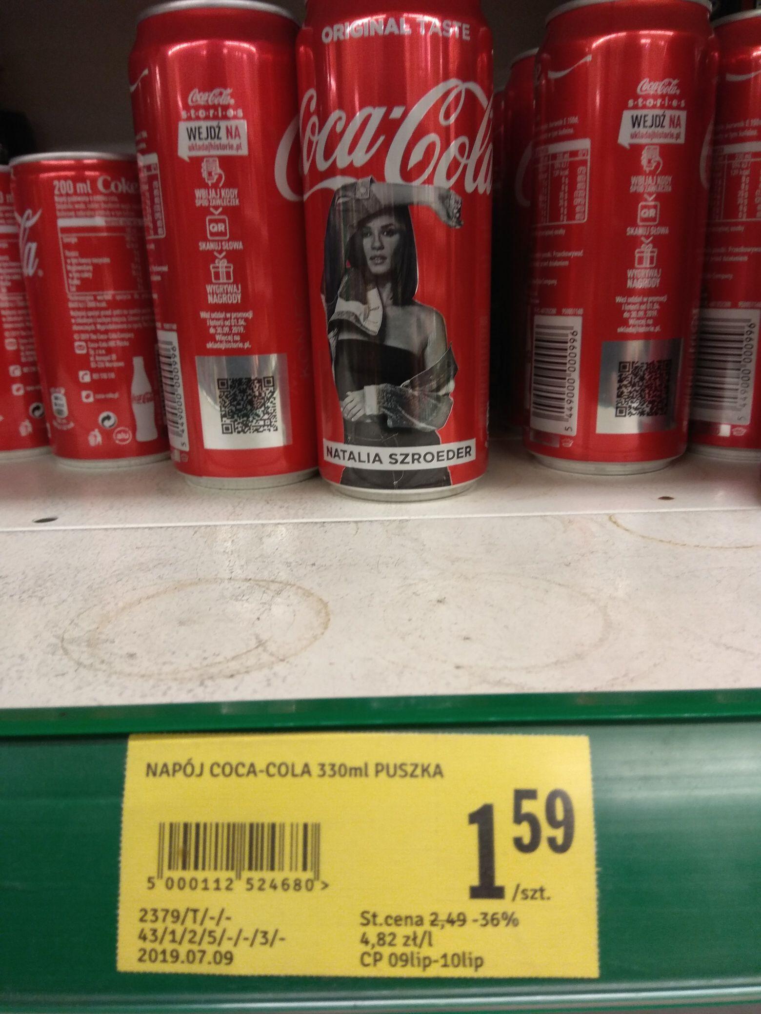 Coca-Cola puszka 330 ml Stokrotka Kody Fanta Sprite