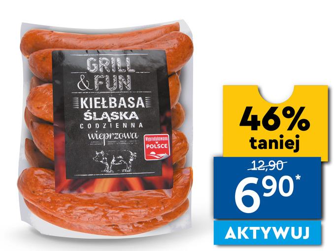 GRILL&FUN Kiełbasa śląska codzienna 1 kg
