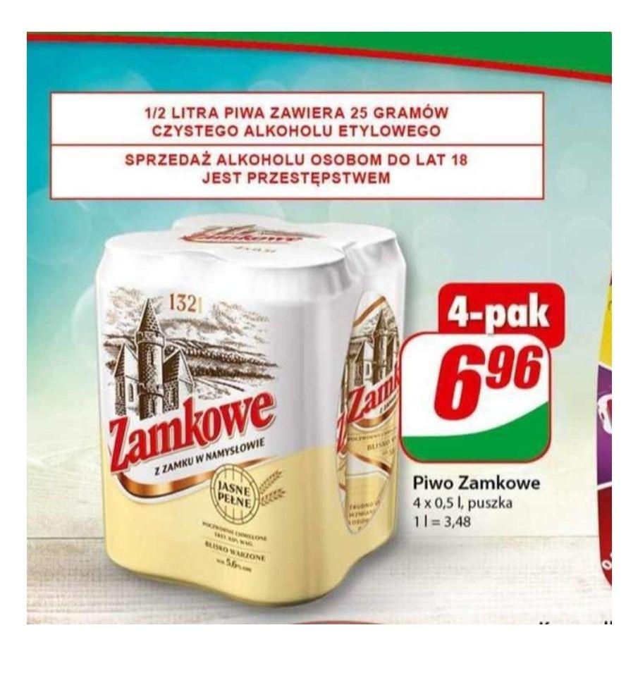 Piwo Zamkowe 4x0.5. Dino