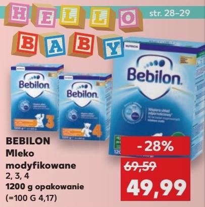 Mleko Bebilon 1200g za 49,99zł @ Kaufland