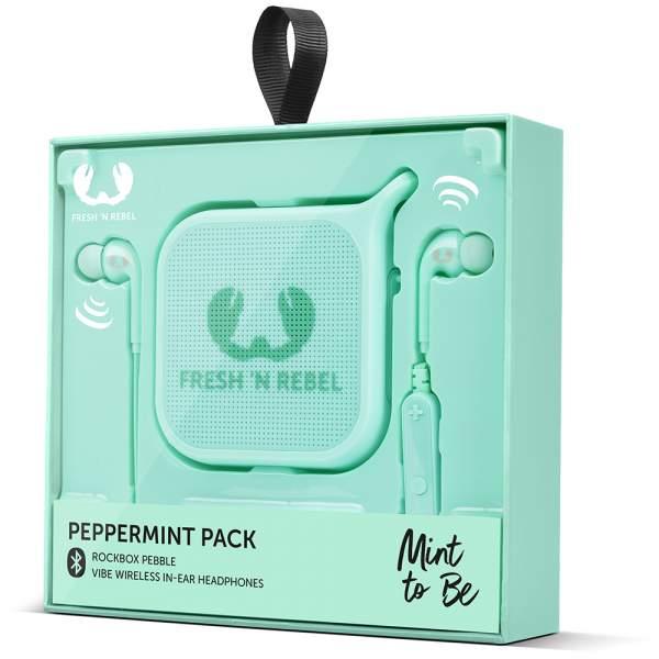 Fresh`n Rebel Zestaw na prezent - słuchawki vibe bluetooth i głośnik peppermint w promocji