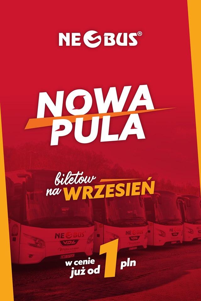 Bilety Neobus na Wrzesień od 1zł