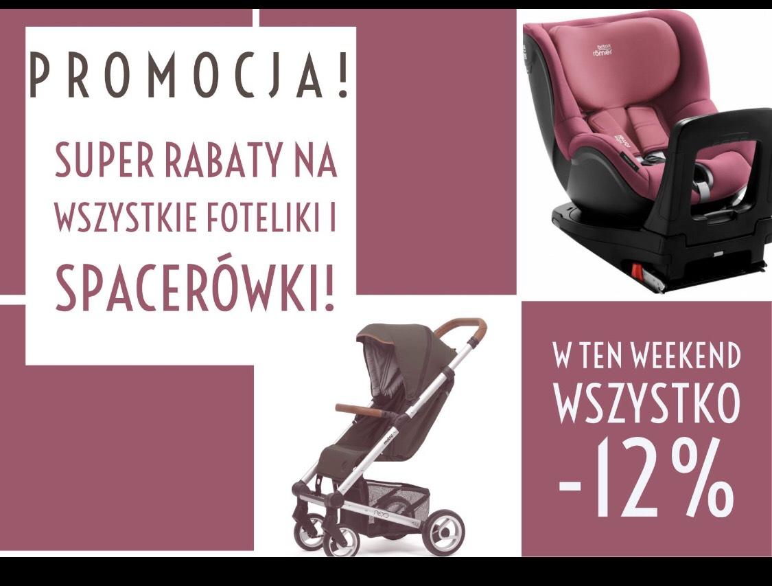 -12% na wszystkie wózki i foteliki @Maluszek Olsztyn