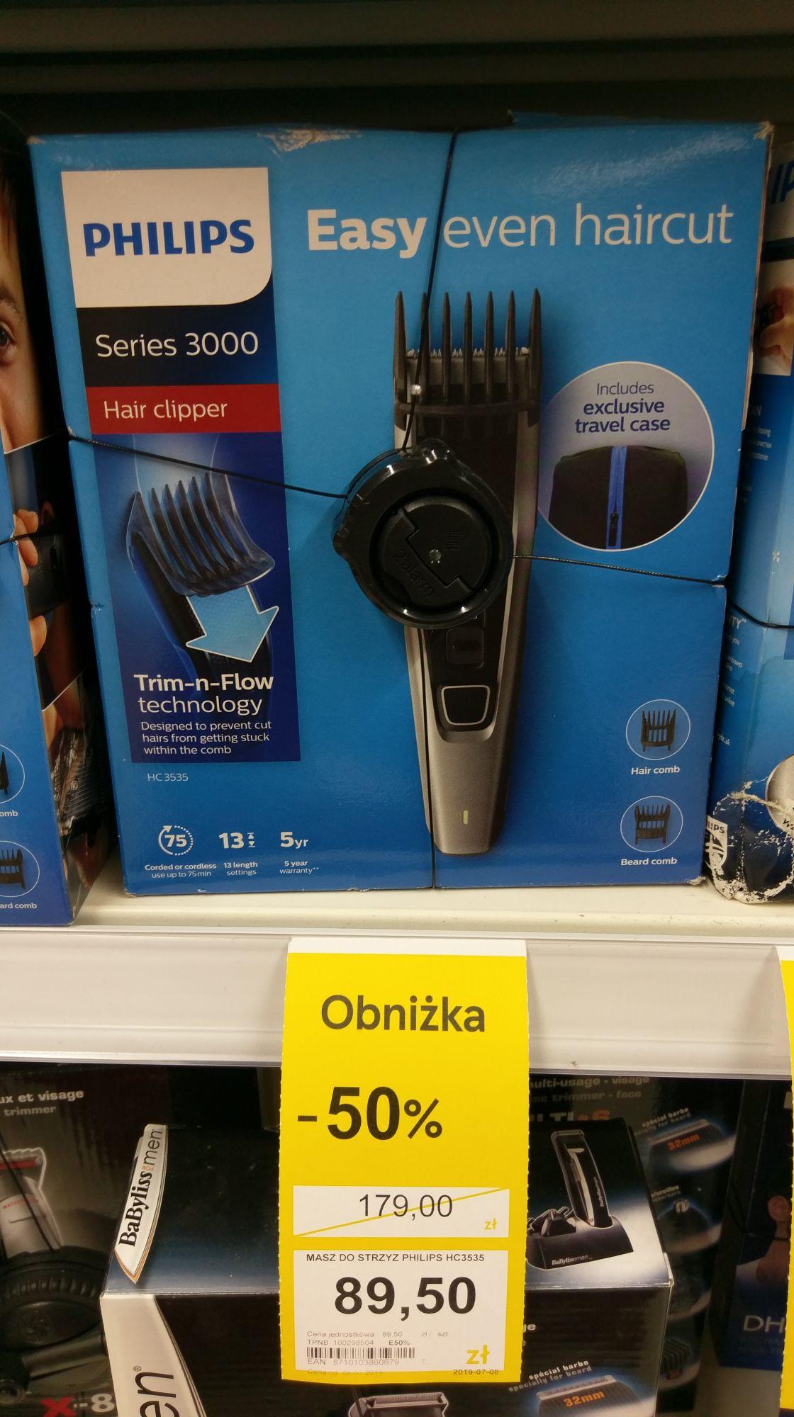 Maszynki do włosów i zarostu Philips, Remington itp. Tesco Szczecin