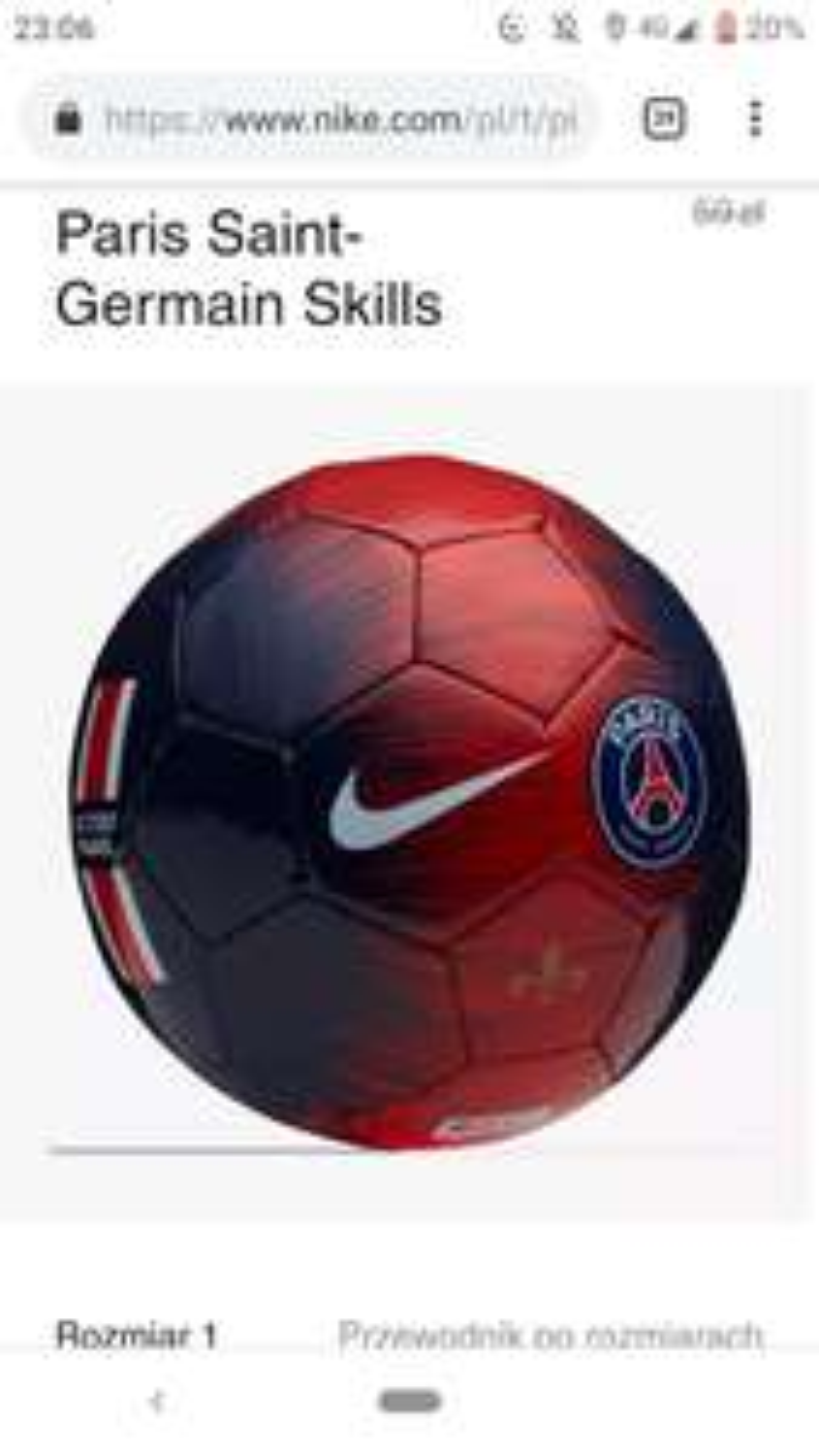 Piłka do piłki nożnej Nike Paris Saint- Germain Skills