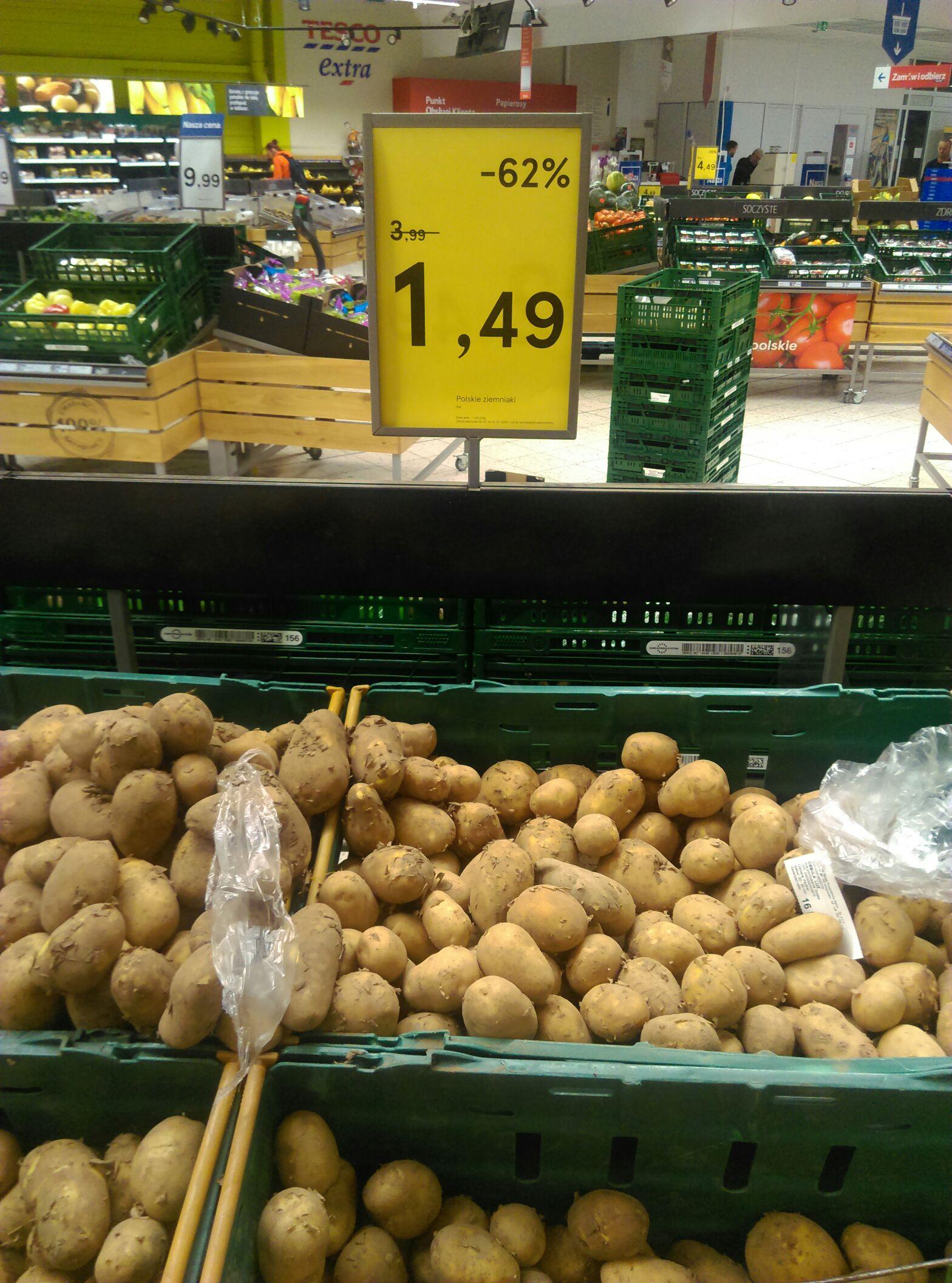 Polskie ziemniaki TESCO Wrocław Długa
