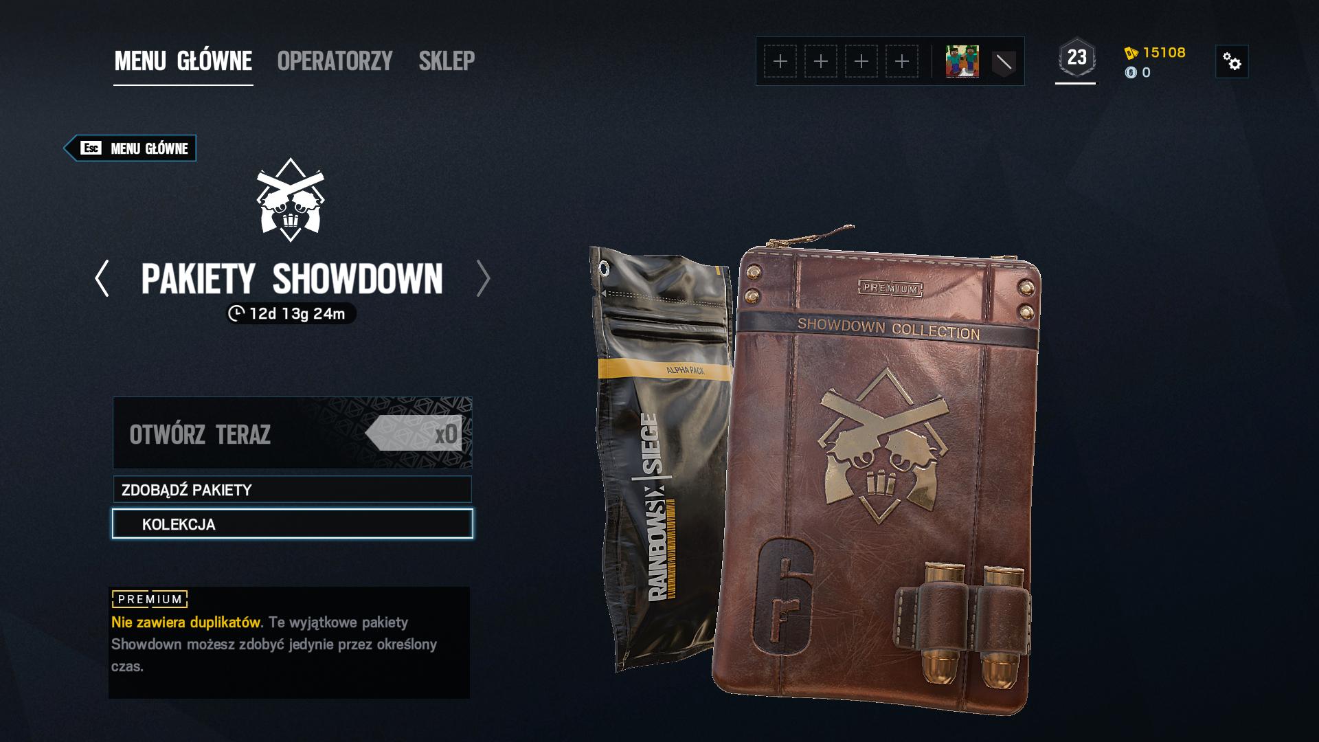 Darmowy pakiet Showdown w Rainbow Six Siege