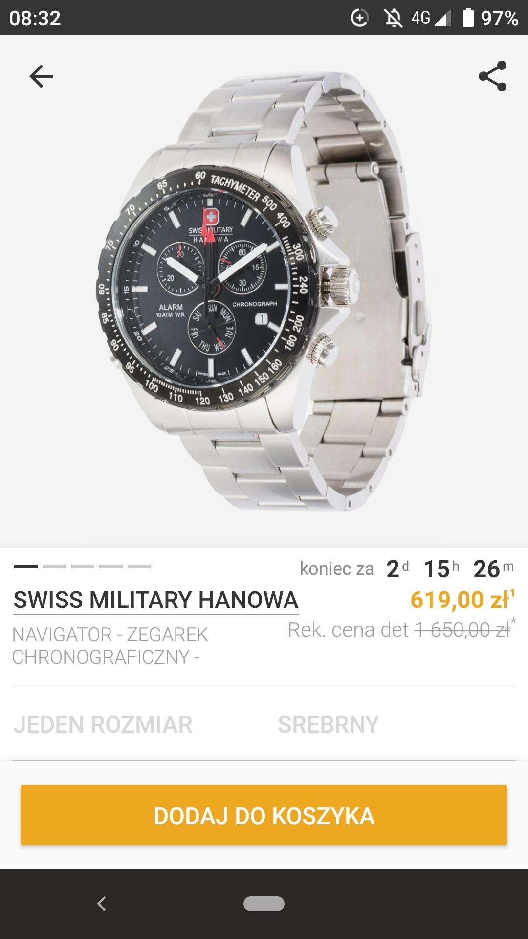 Zegarki Swiss Military Hanowa w super cenach na Zalando lounge