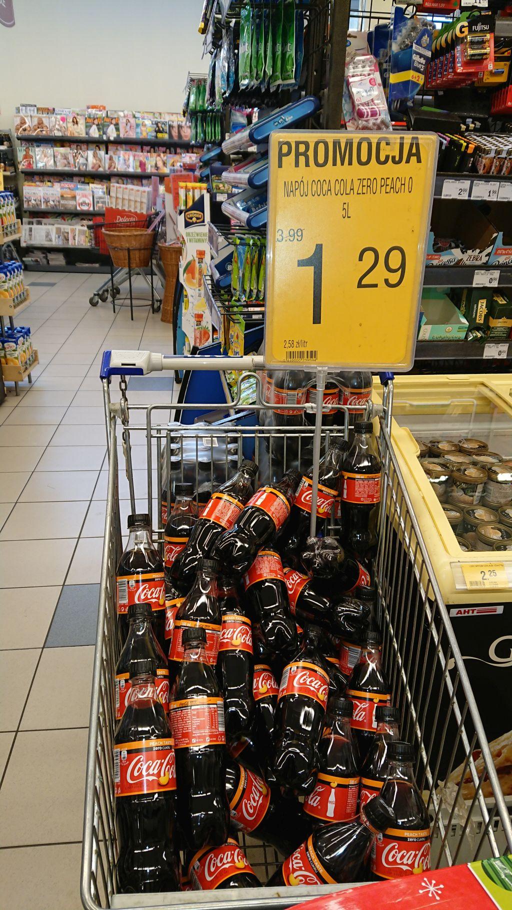 Coca Cola zero peach