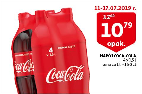 Napój Coca-cola 4x 1,5l w auchanie