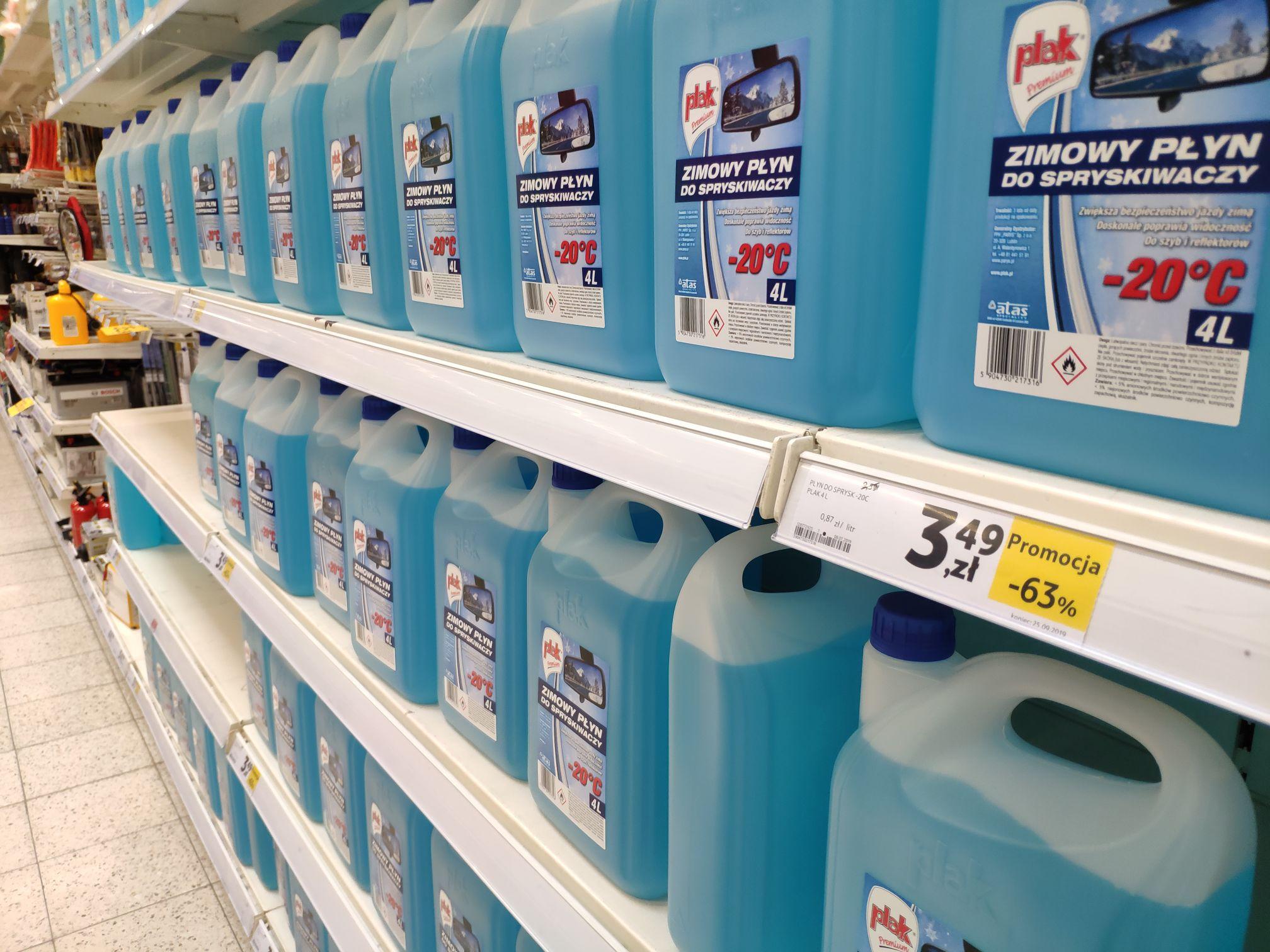 Zimowy płyn do spryskiwaczy PLAK -20C (4litry)