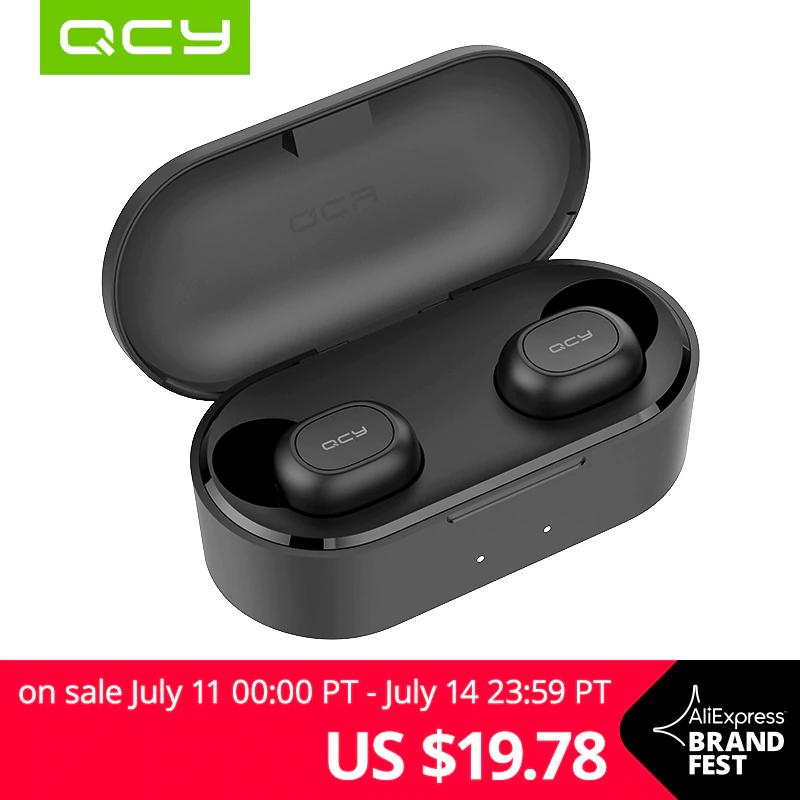 Słuchawki QCY QS2 Bluetooth TWS V5.0  Stereo bezprzewodowe słuchawki z podwójnym mikrofonem