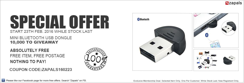 Nadajnik/odbiornik Bluetooth USB ZA DARMO @ Zapals