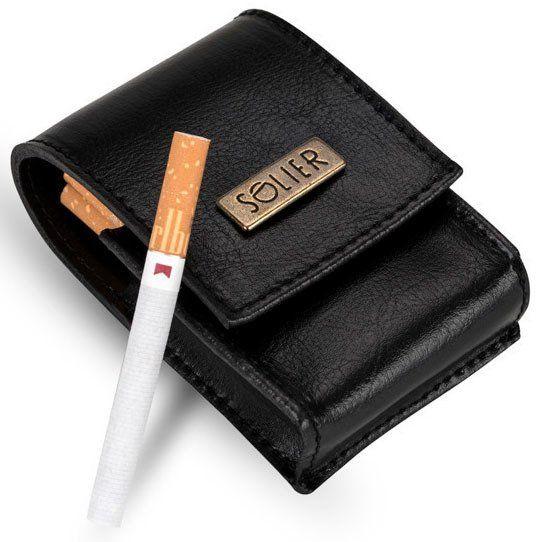 Skórzane etui na paczkę papierosów Solier