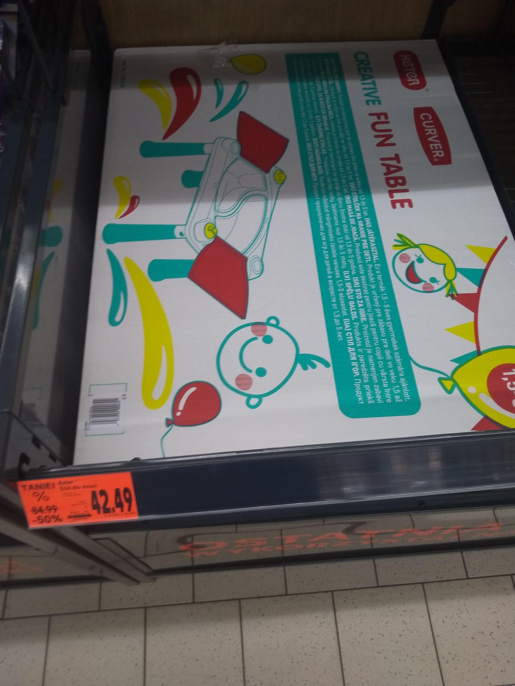 Stół do zabaw (Kaufland)