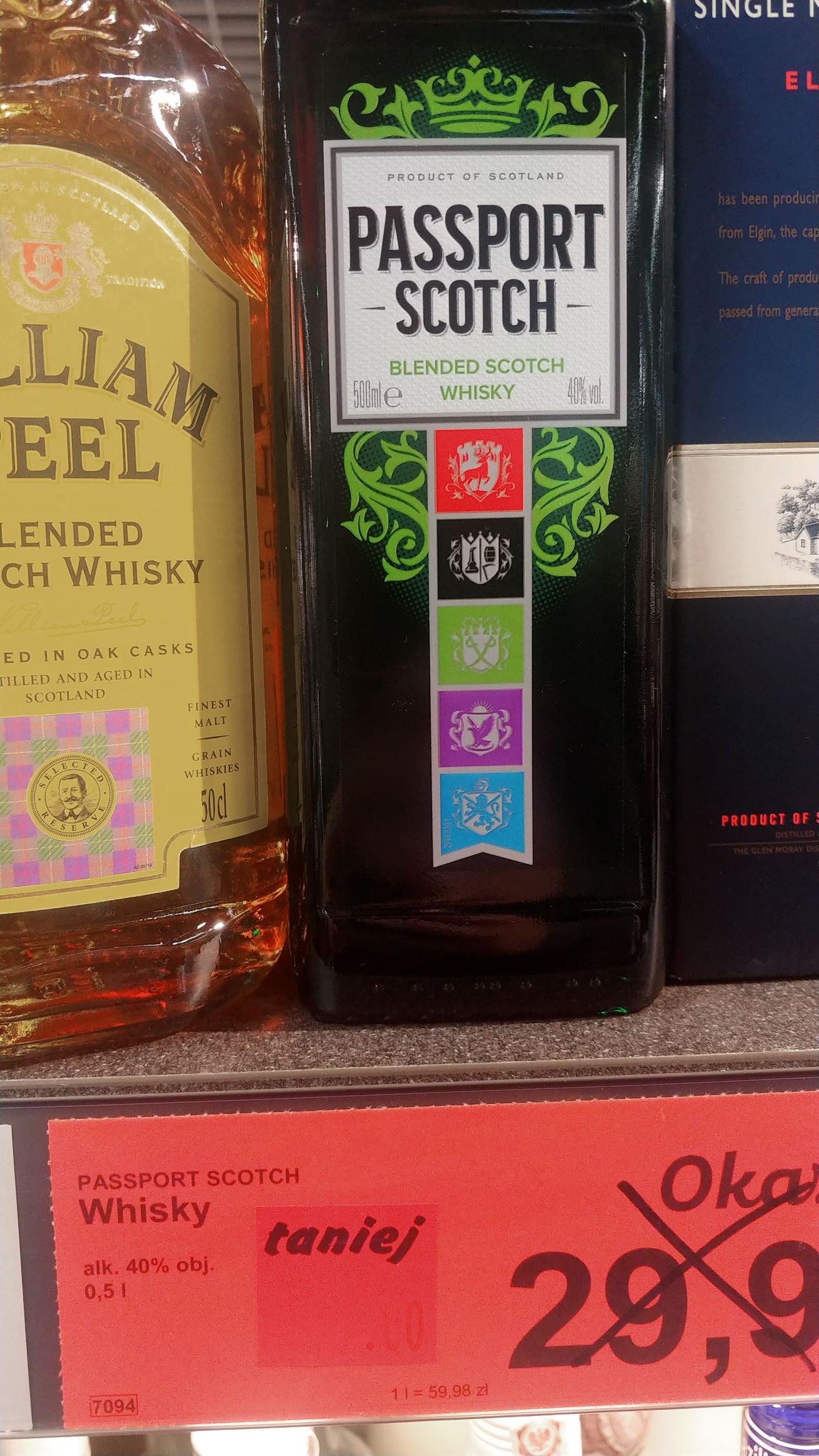 Whisky Passport Scotch 0.5l Aldi Szkocka produkcji Chivas