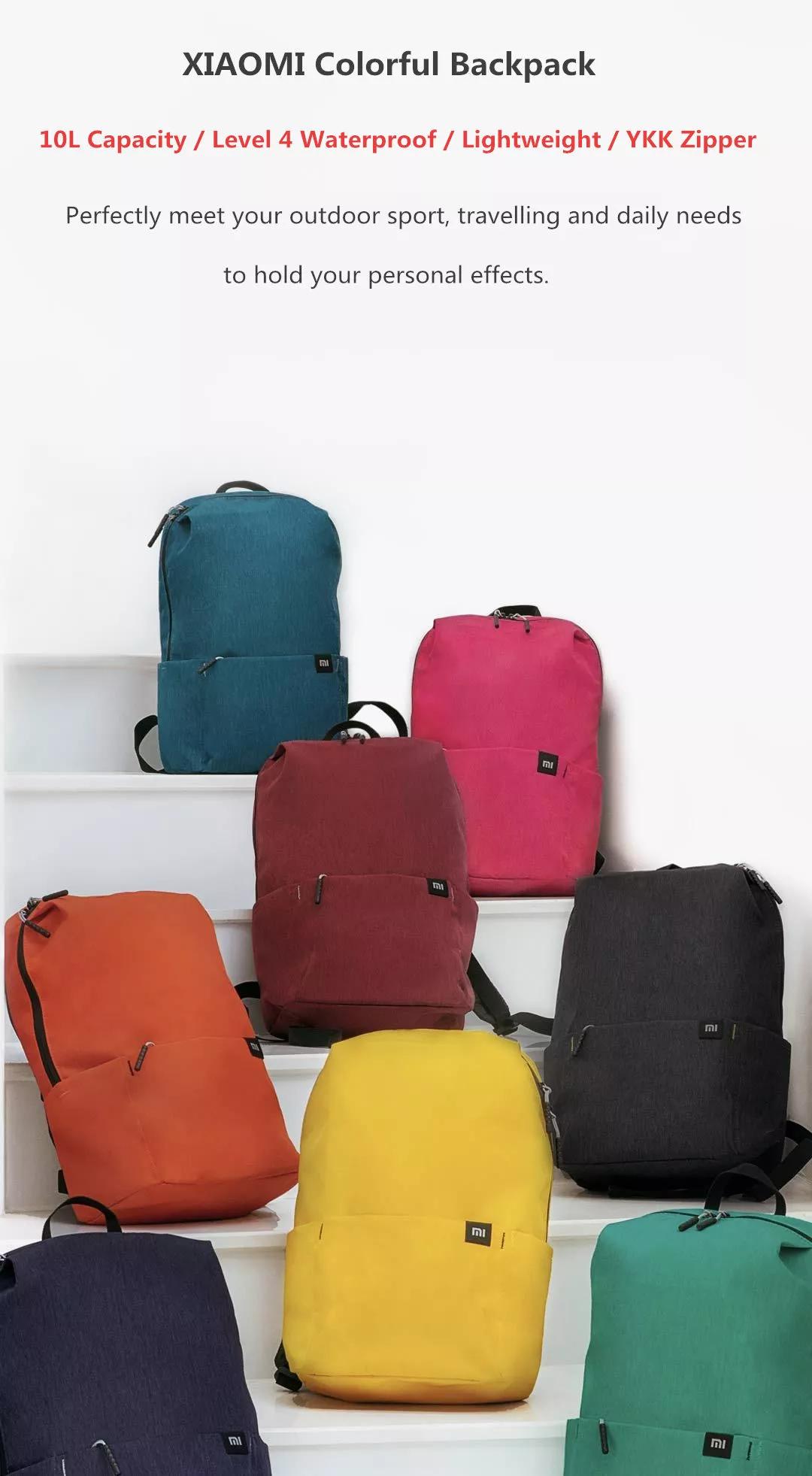 Tani plecak od Xiaomi - różne kolory - 10L