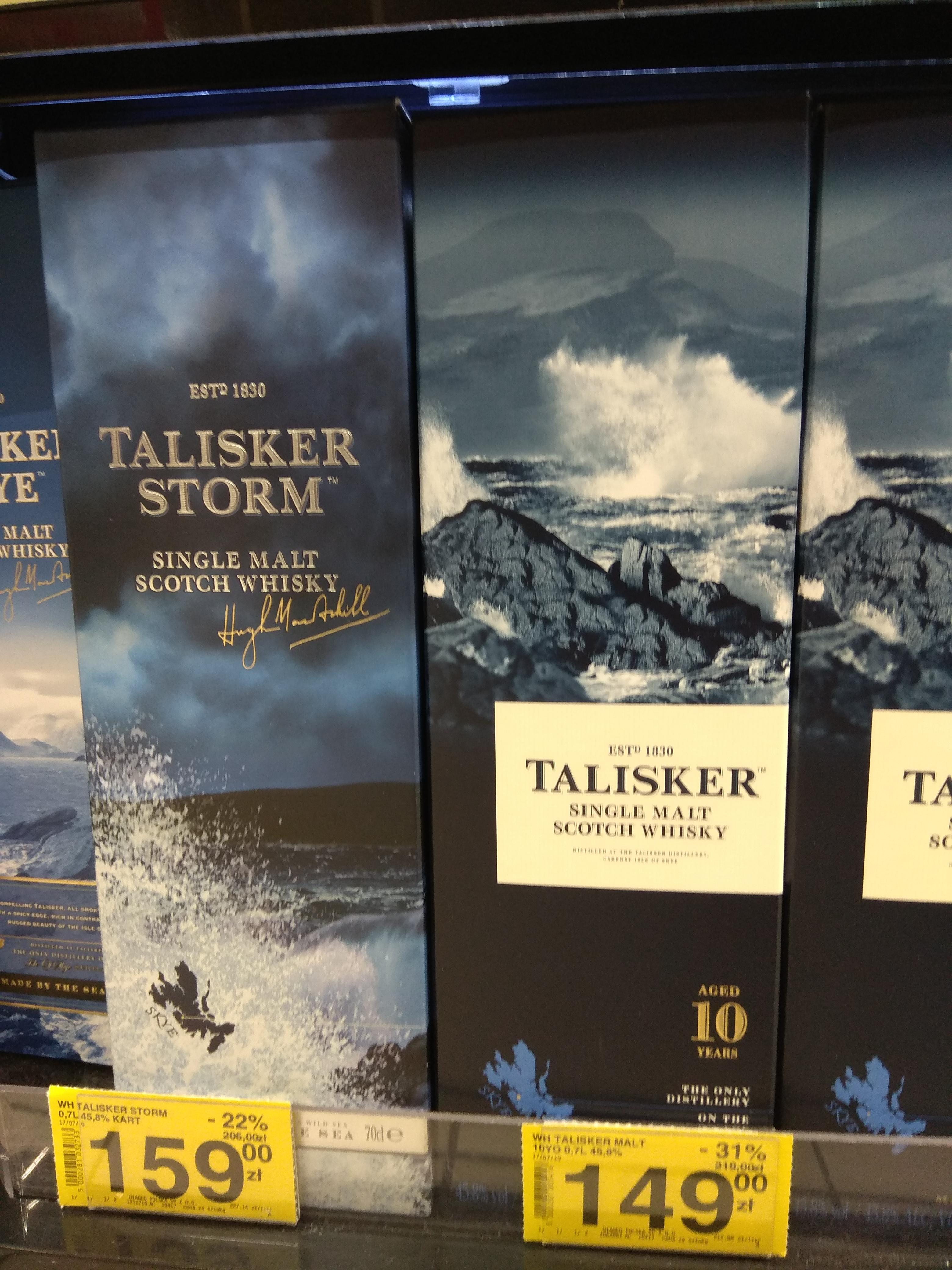 Whisky Talisker 10yo 0.7 45.8% Carrefour W-w