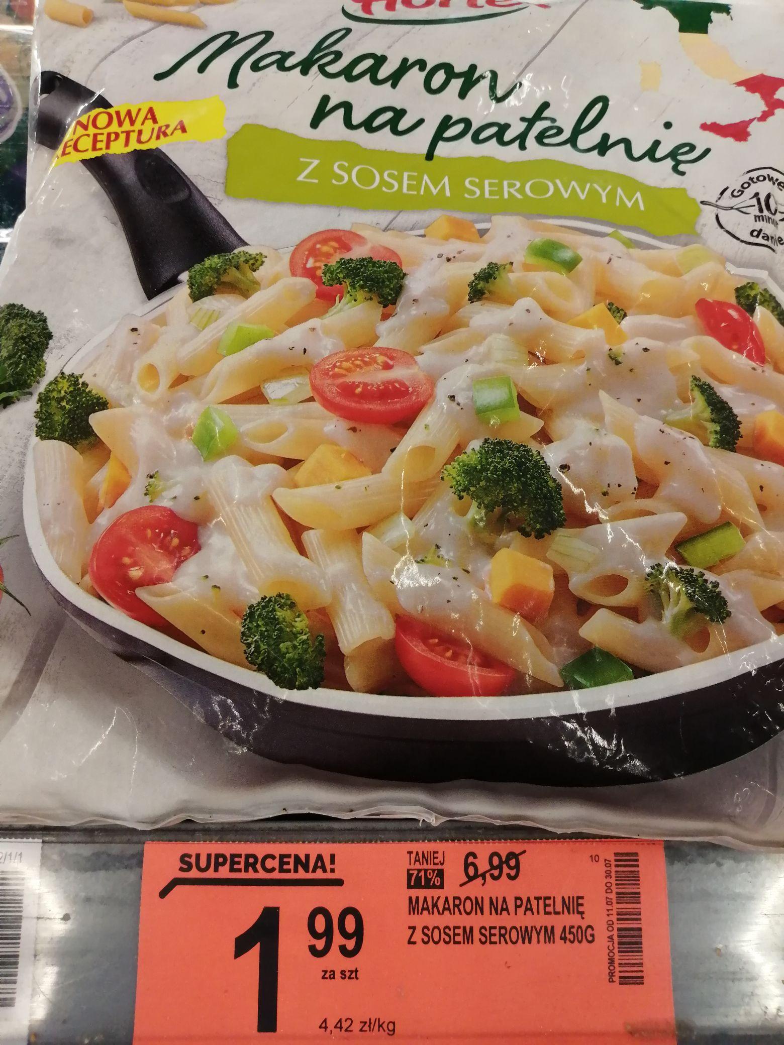 Biedronka Makaron na patelnię z sosem serowym