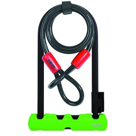 Zapięcie rowerowe | U-lock Abus Ultra 410 D 230/80/12mm + linka
