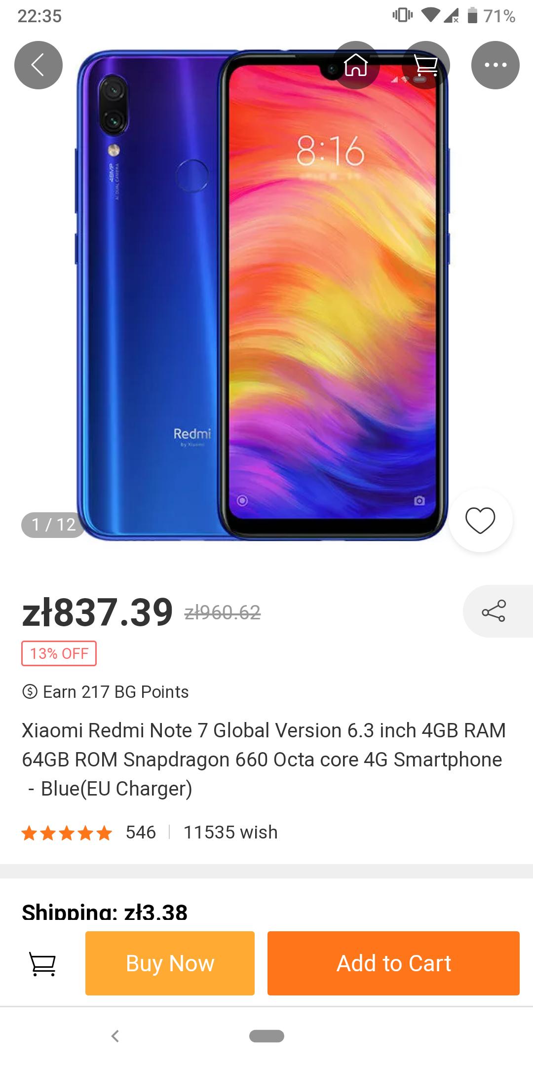 Smartfon Xiaomi Redmi Note 7 4/64 SD660