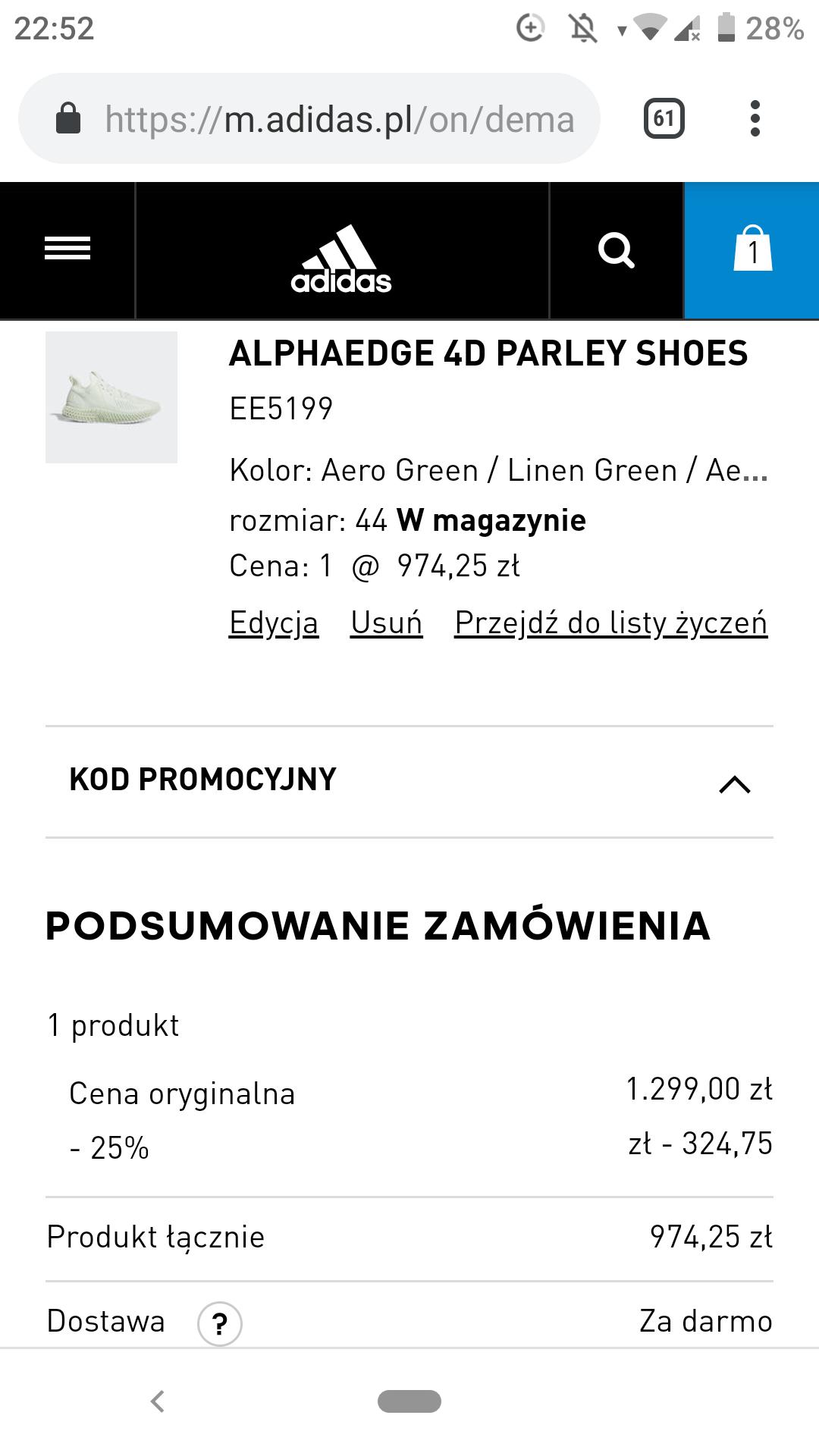 Nowy super kod adidas! -25%