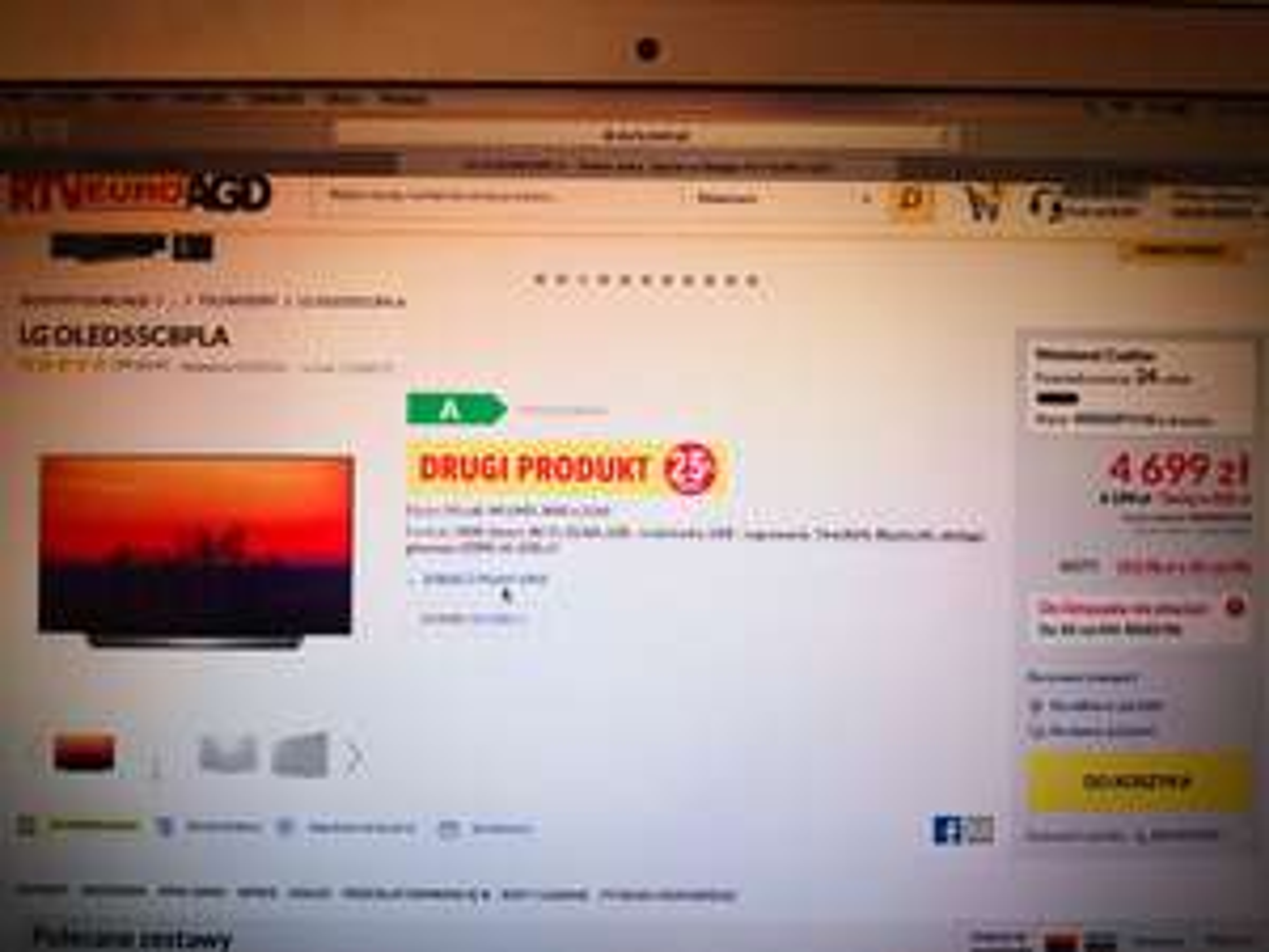 LG OLED 55c8 Absolutny Sztos Telewizor ZA 4699
