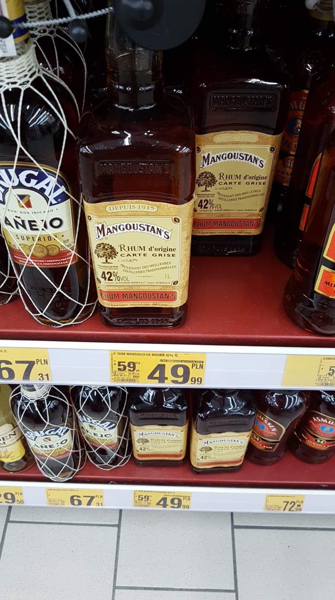 Rum 1l MANGOUSTAN's d'origine @ Auchan Gdańsk Przymorze