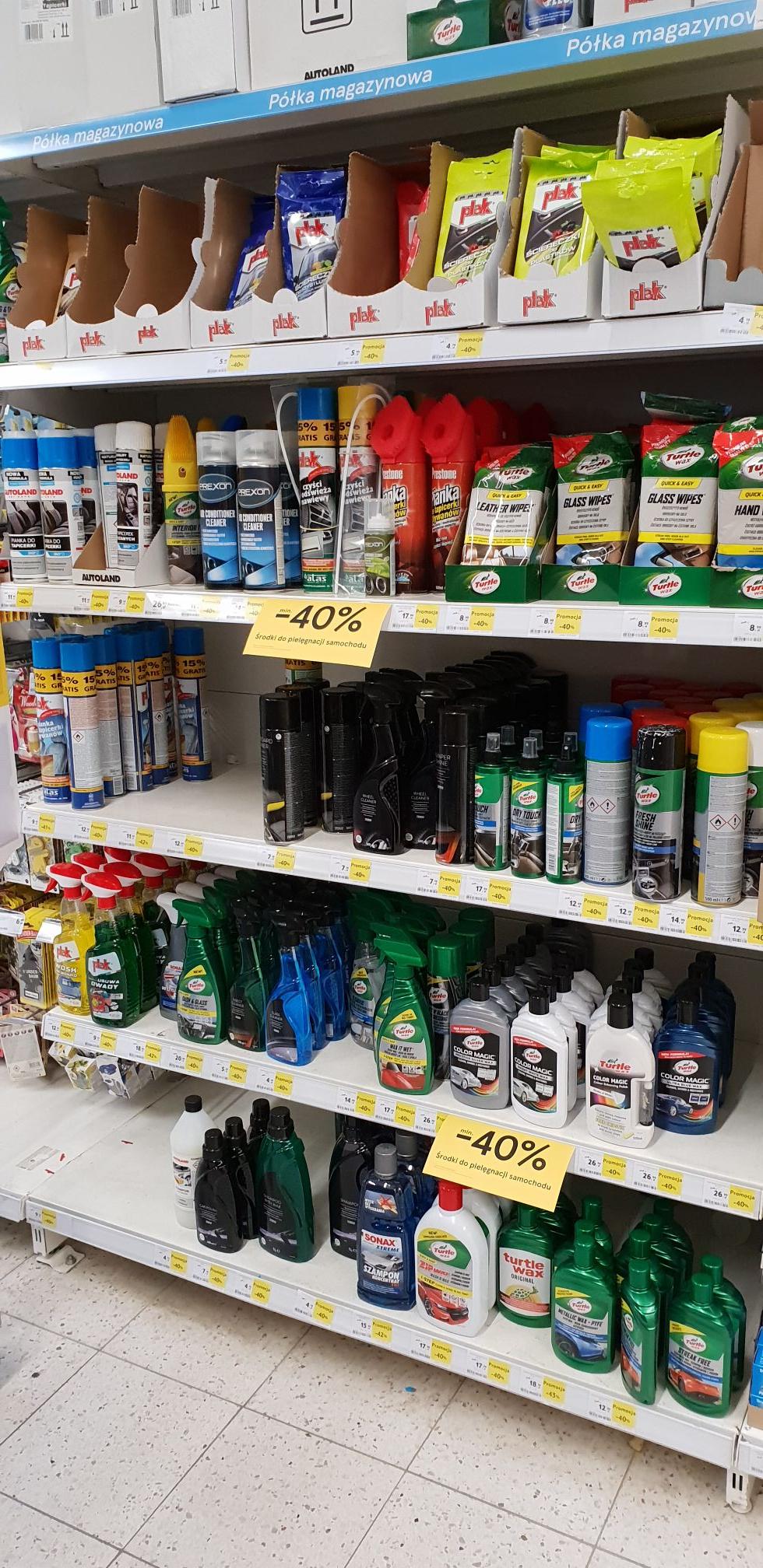 Tesco -40% Kosmetyki do pielęgnacji samochodu Turtle Wax/Plak/Autoland